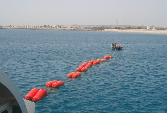 Buoyancy bag at sea